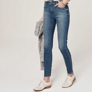 LOFT high waist skinny ankle jeans